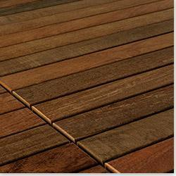 FlexDeck Interlocking Wood Deck Tiles