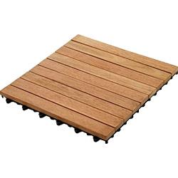 Kontiki Interlocking Wood Deck Tiles - Hardwood Series