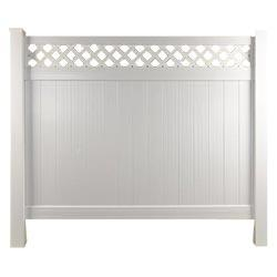 Longevity Privacy Top Panel w/ Lattice Fence