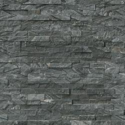 MS International Stone Siding - Marble Glacial Black  Collection