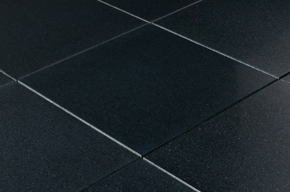Polished granite black galaxy floor tiles
