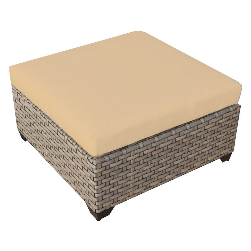 TK Classics Monterey Wicker Outdoor Ottoman