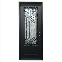 Grafton Exterior Wrought Iron Glass Doors Roman Collection