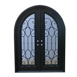 Grafton Exterior Wrought Iron Glass Doors Castle Full Light Collection