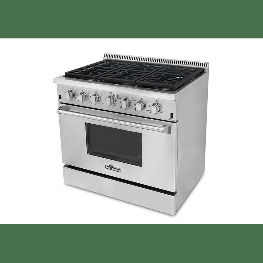 thor kitchen thor kitchen stainless steel ranges 36
