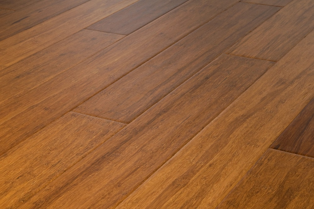 Yanchi bamboo engineered handscraped collection carbonized for Engineered bamboo flooring