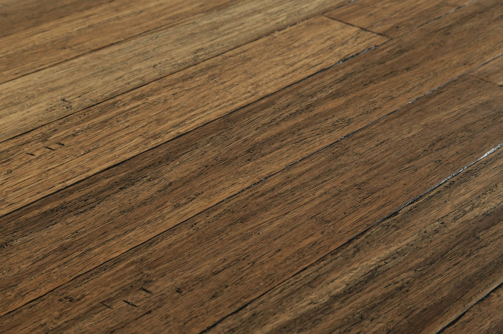 Free samples yanchi bamboo handscraped strand woven for Bamboo hardwood flooring