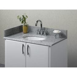 Pedra Granite Vanity Top with UM Oval Bowl Model 100938041 Bathroom Vanities