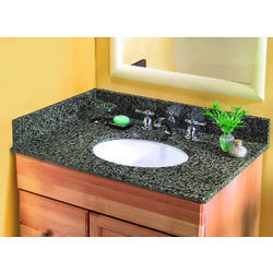 Pedra Granite Vanity Top with UM Oval Bowl Model 100939161 Bathroom Vanities