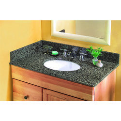 Pedra Granite Vanity Top with UM Oval Bowl Model 100939201 Bathroom Vanities