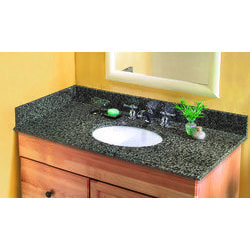 Pedra Granite Vanity Top with UM Oval Bowl Model 100939241 Bathroom Vanities