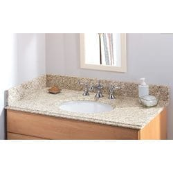 Pedra Granite Vanity Top with UM Oval Bowl Model 100938521 Bathroom Vanities