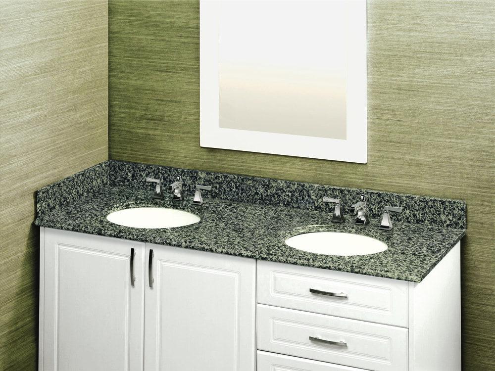 Granite Double Bowl Vanity Top : Pedra granite vanity top with um oval bowl quadro quot x