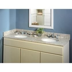 Pedra Granite Vanity Top with UM Oval Bowl Model 100938581 Bathroom Vanities