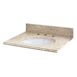 Pedra Granite Vanity Top with UM Oval Bowl Model 100938441 Bathroom Vanities