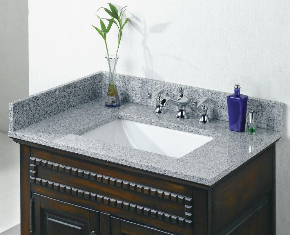 Pedra granite vanity top with um trough bowl napoli 31 - How to clean marble bathroom vanity top ...