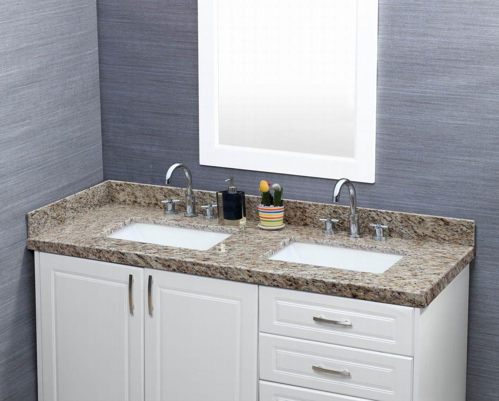 Trough Sink Vanity Top : Pedra Granite Vanity Top with UM Trough Bowl Giallo Ornamental / 61 ...