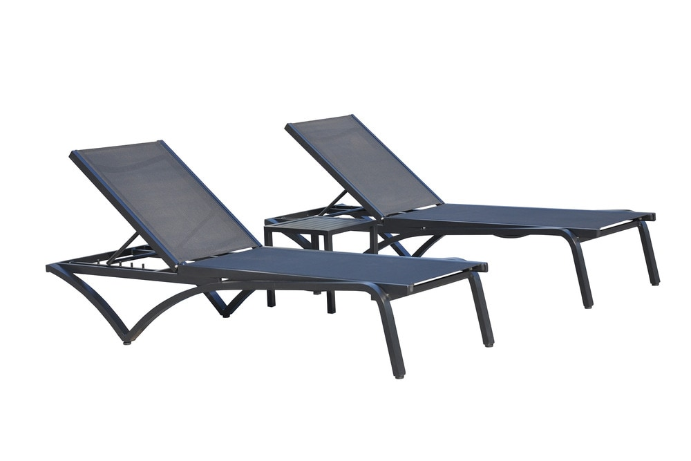Kontiki beach pool lounge metal chaise loungers lucy - Chaise pied metal ...