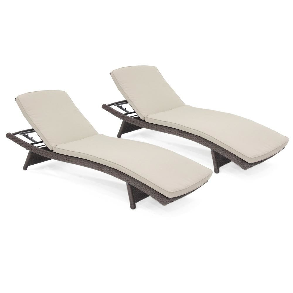 Kontiki beach pool lounge resin wicker chaise for 2 chaise lounges