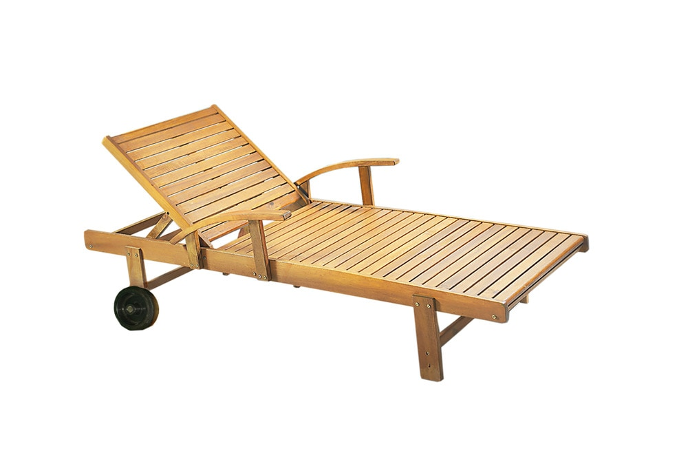 Kontiki beach pool lounge wooden chaise loungers for 3 in 1 beach chaise lounge