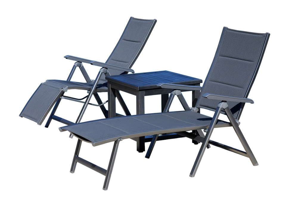 Mayaro beach pool lounge aluminum chaise loungers w for Beach chaise lounger
