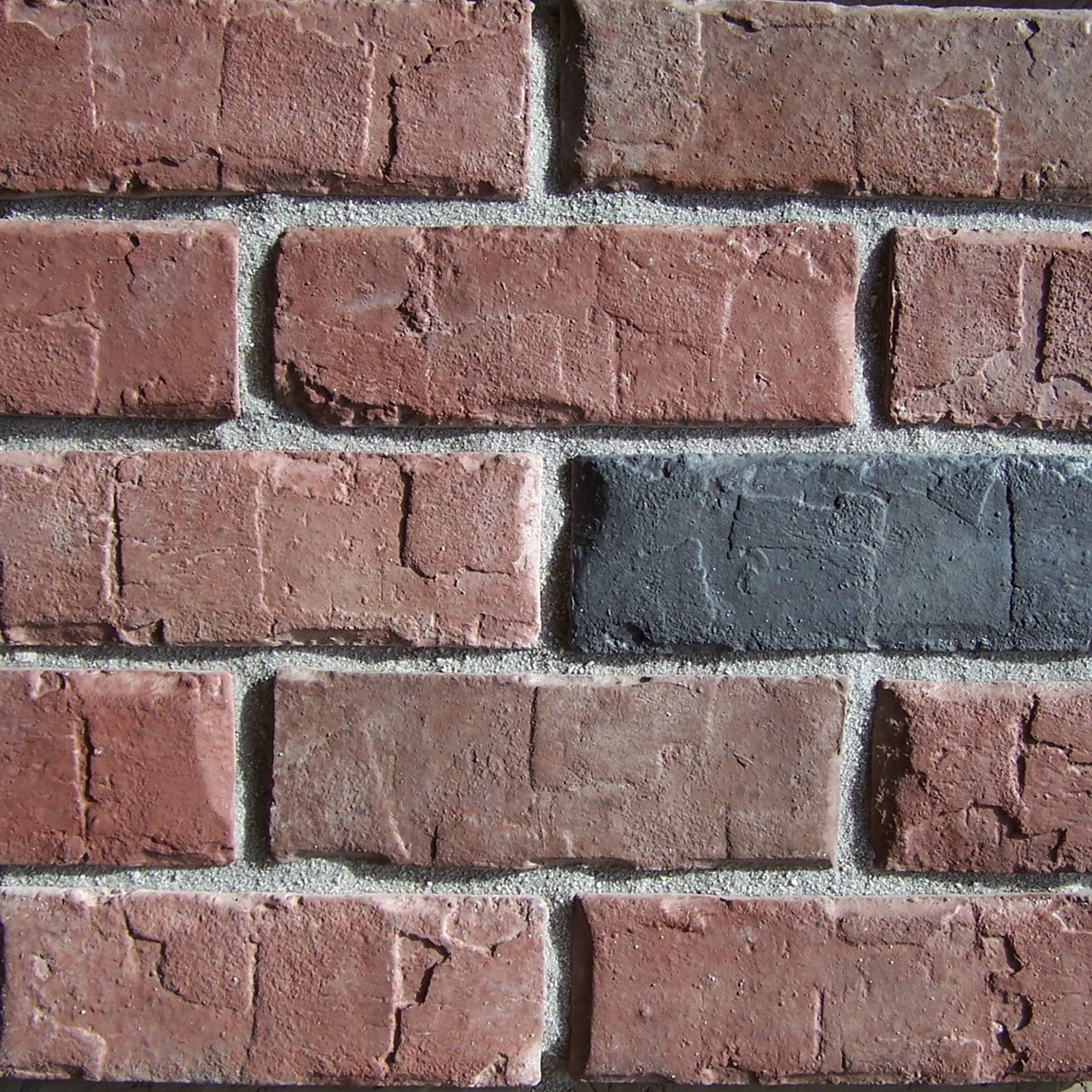 Black bear pallets manufactured stone brick hampton for Manufactured brick