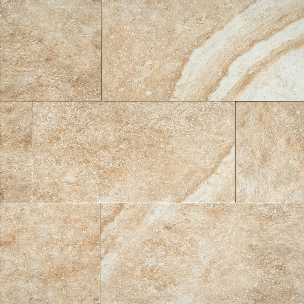 Ms International Ceramic Tile Aliso Series Bone 12 X24