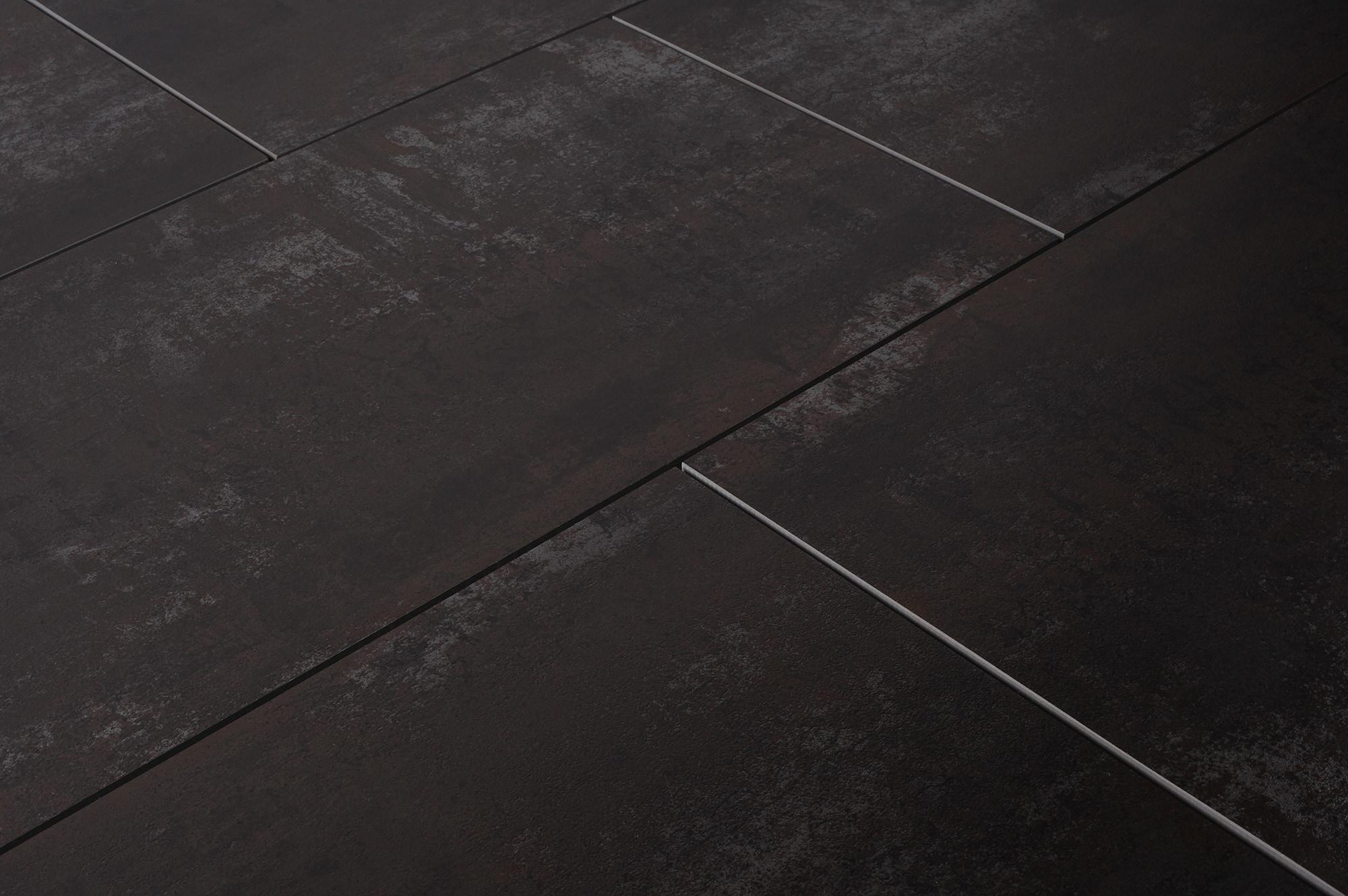 Salerno porcelain tile base metal series black 24 x24 Black and white ceramic tile