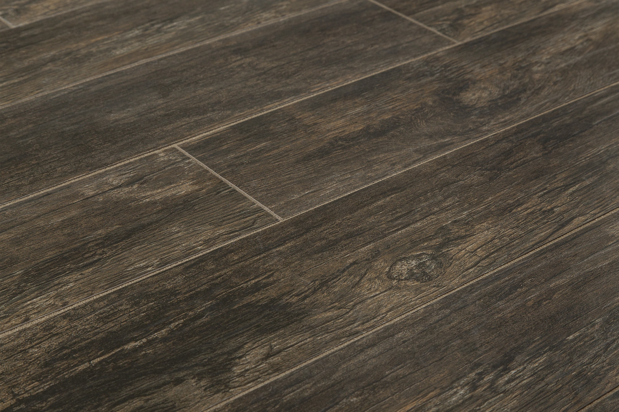 Salerno porcelain tile tacoma wood series dark spruce embossed 6 x35 Wood porcelain tile planks