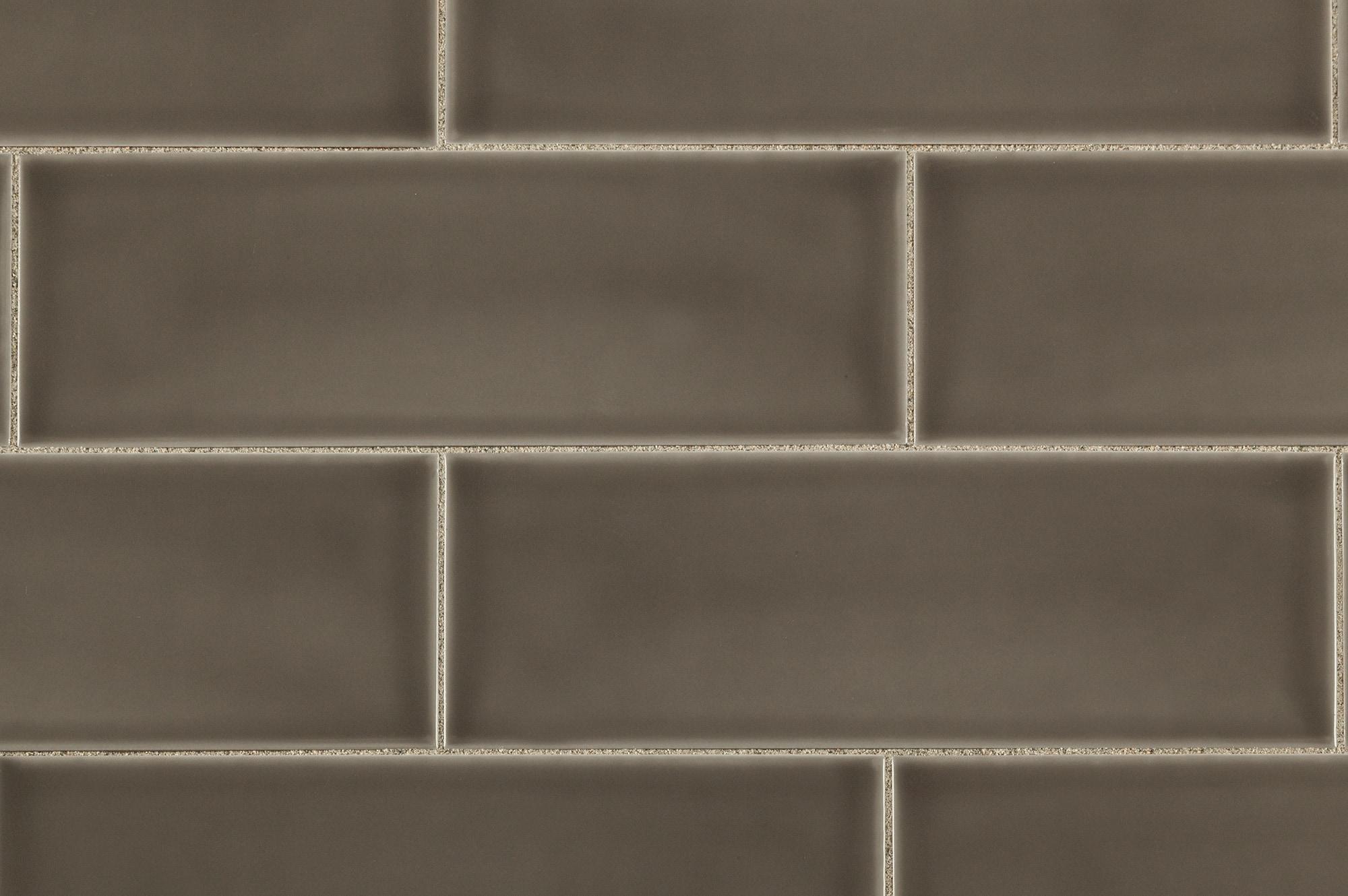 Brilliante Ceramic Wall Tile Provence Collection Gray Beige 4 X12
