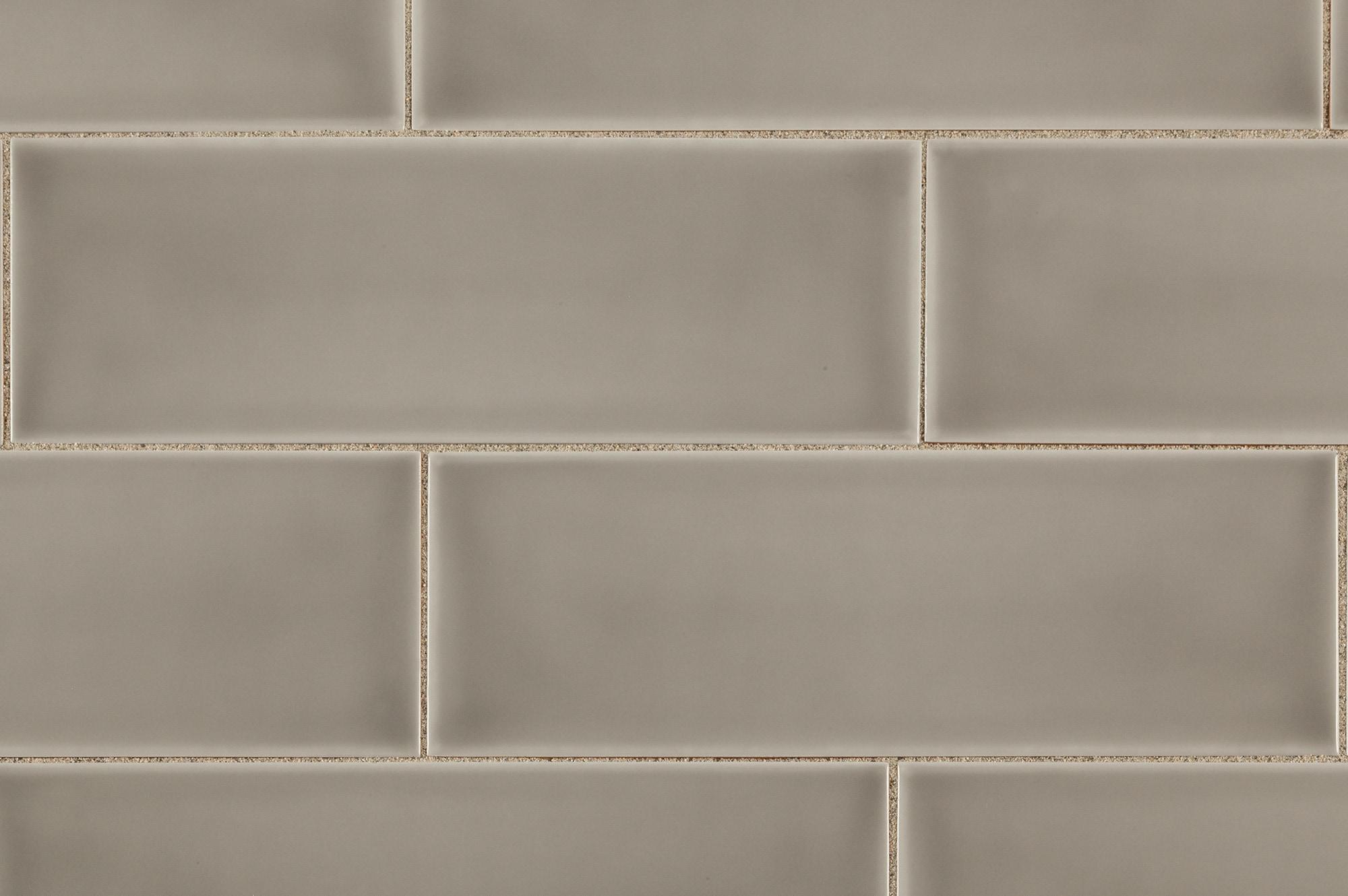 Brilliante Ceramic Wall Tile Provence Collection Gray Fume 4 X12