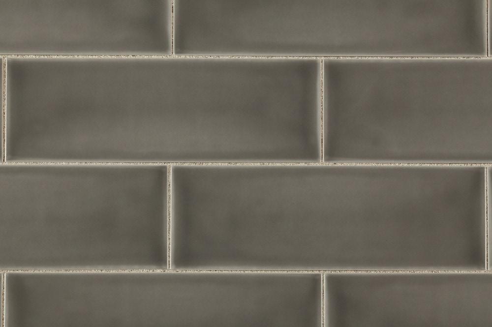 Brilliante Ceramic Wall Tile Provence Collection Gray Smoke 4 X12