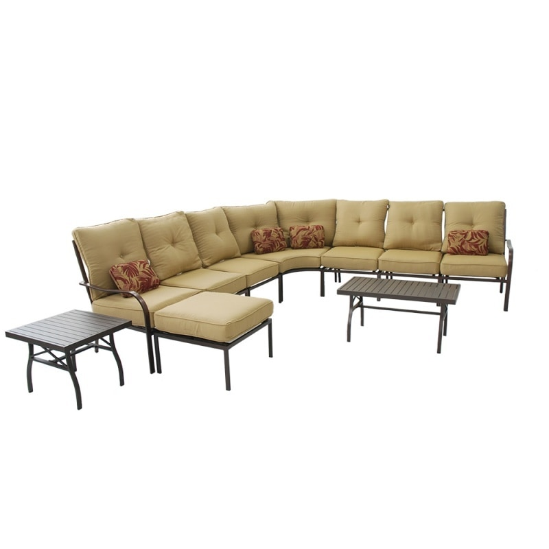 Kontiki Conversation Sets Metal Sectionals Naples 10 Piece Sectional Sofa Set