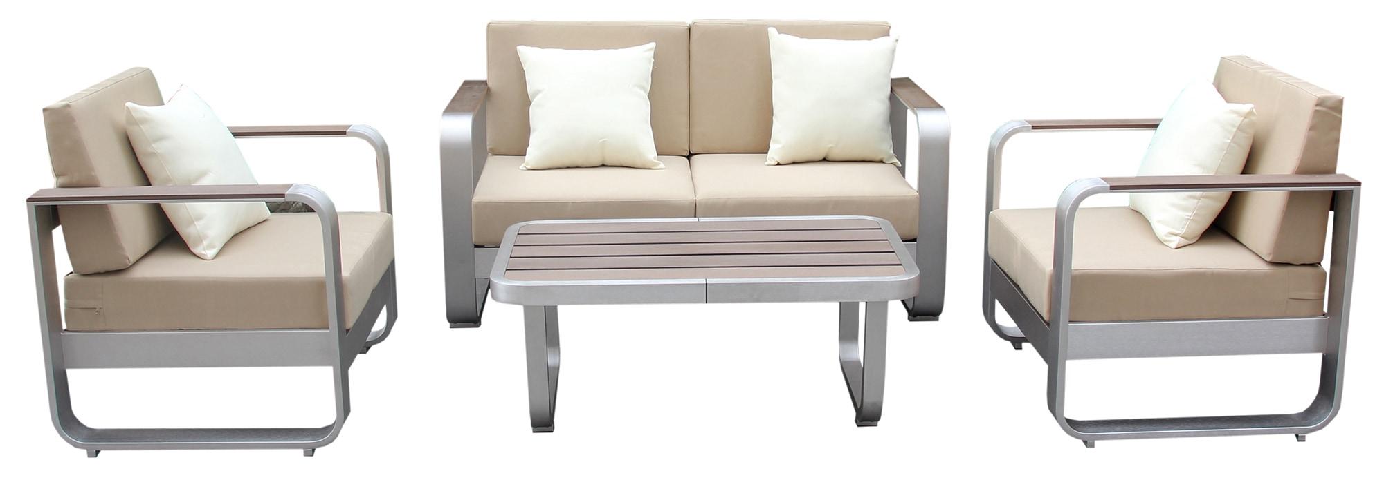 Kontiki Conversation Sets Metal Sofa Sets Nayaro 4 Piece