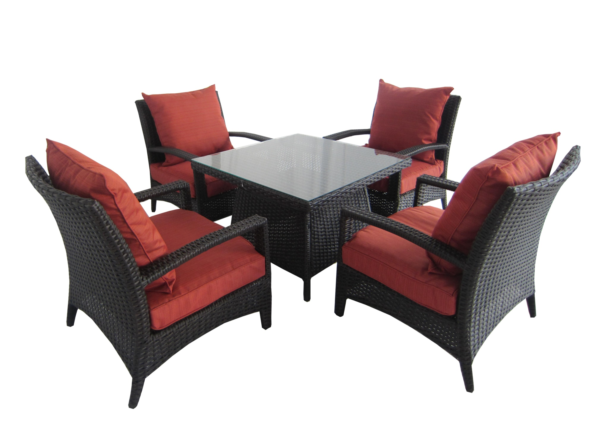 Kontiki Conversation Sets Wicker Chat Sets Polynesian Sun 5 Piece Chat Set