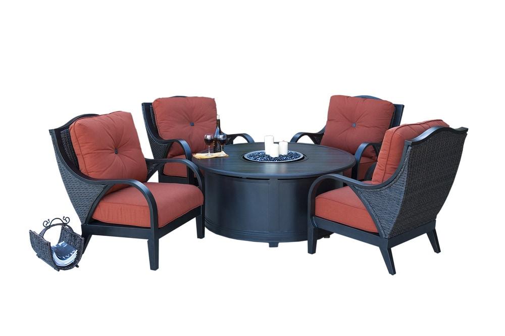 Mayaro Conversation Sets Aluminum Chat Sets McKinney 5 Piece Set 4 Chairs