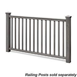 Kontiki Deck Railing Synthetic Wood Kit Model 100948001 Deck Railings