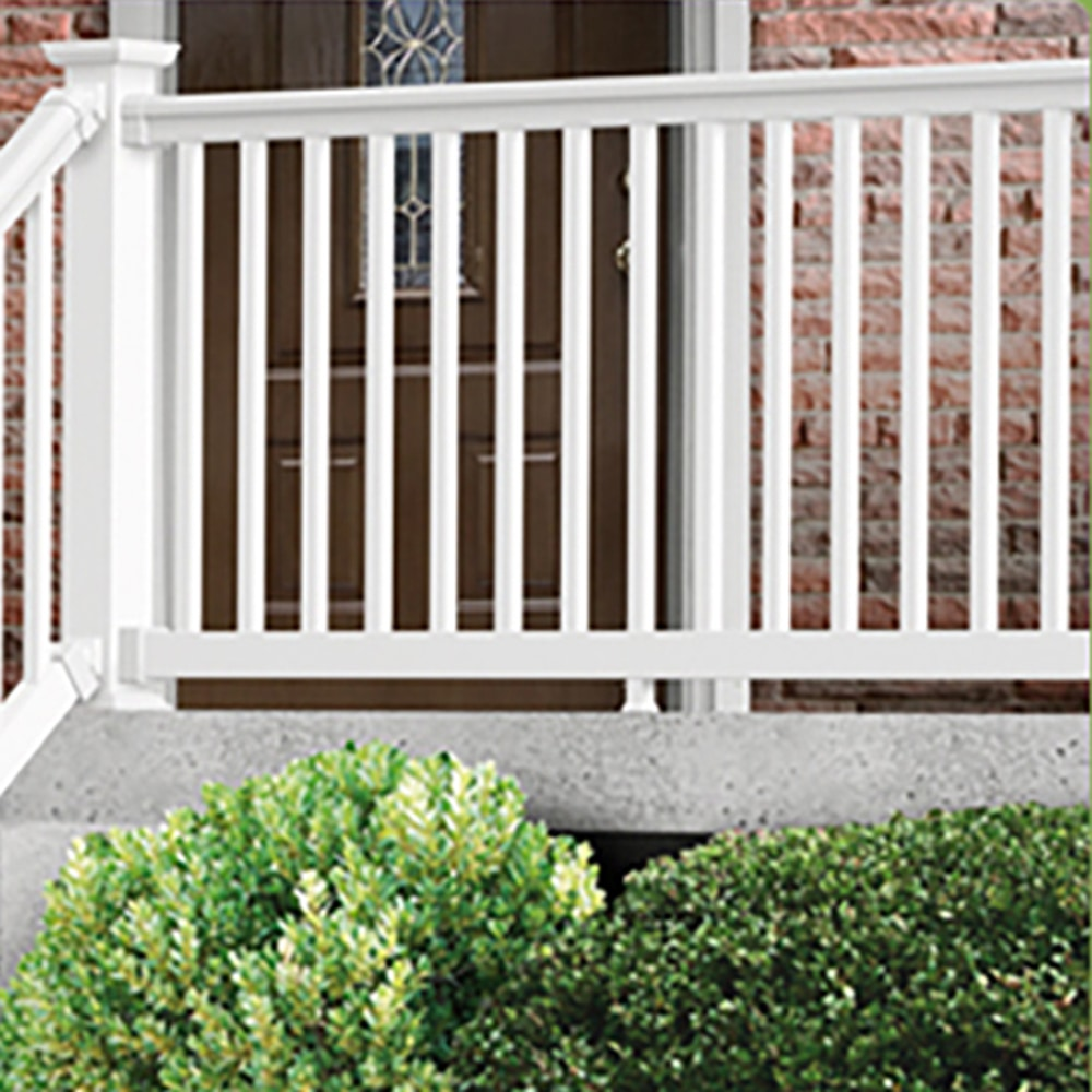 Kontiki deck railing vinyl prestige classic classic white rail kit 36 x96 - Vinyl railing reviews ...