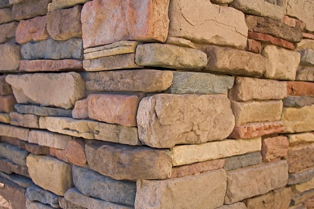 Stone Veneer Columns : M rock install with screws manufactured stone column