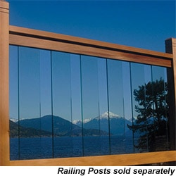 RailSimple Cedar & Glass Railing Kits Clearview Series Model 100623211 Deck Railings