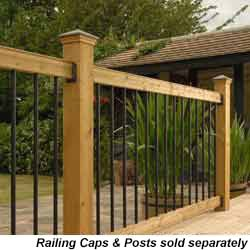 RailSimple Wood Railing Kits Traditional Series Model 100956421 Deck Railings