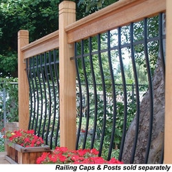 RailSimple Wood Railing Kits Tuscany Series Model 100777851 Deck Railings