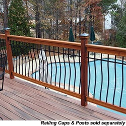 RailSimple Wood Railing Kits Tuscany Series Model 100957211 Deck Railings