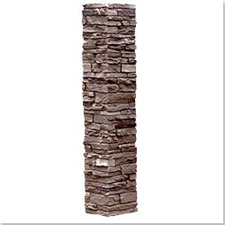StoneWorks Faux Stone 2 Piece Railing Post Covers Model 101048111 Deck Railings