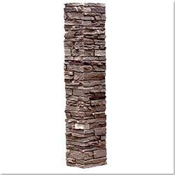 StoneWorks Faux Stone 2 Piece Railing Post Covers Model 101048111 Deck Railings