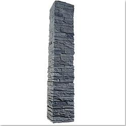 StoneWorks Faux Stone 2 Piece Railing Post Covers Model 101048121 Deck Railings