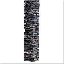 StoneWorks Faux Stone 2 Piece Railing Post Covers Model 101048151 Deck Railings