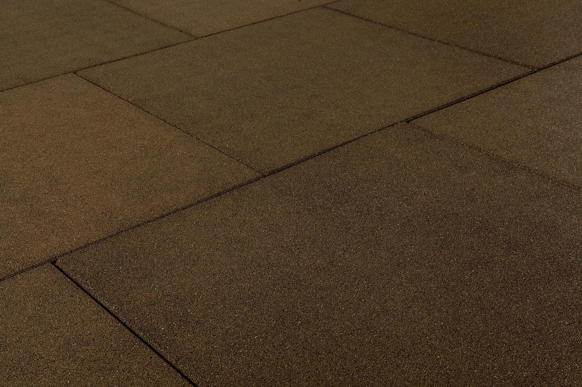 Brava Outdoor Prestige Rubber Tiles Pigment Stone Brown 24