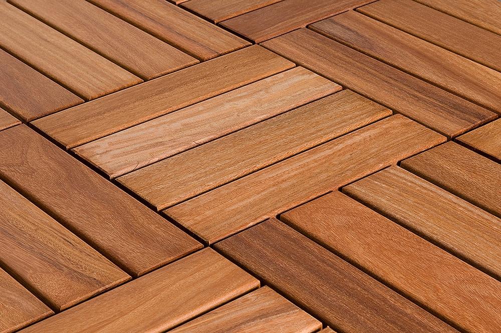 Flexdeck interlocking wood deck tile copacabana ipe champagne 12 x12 x1 - How to install interlocking deck tiles ...