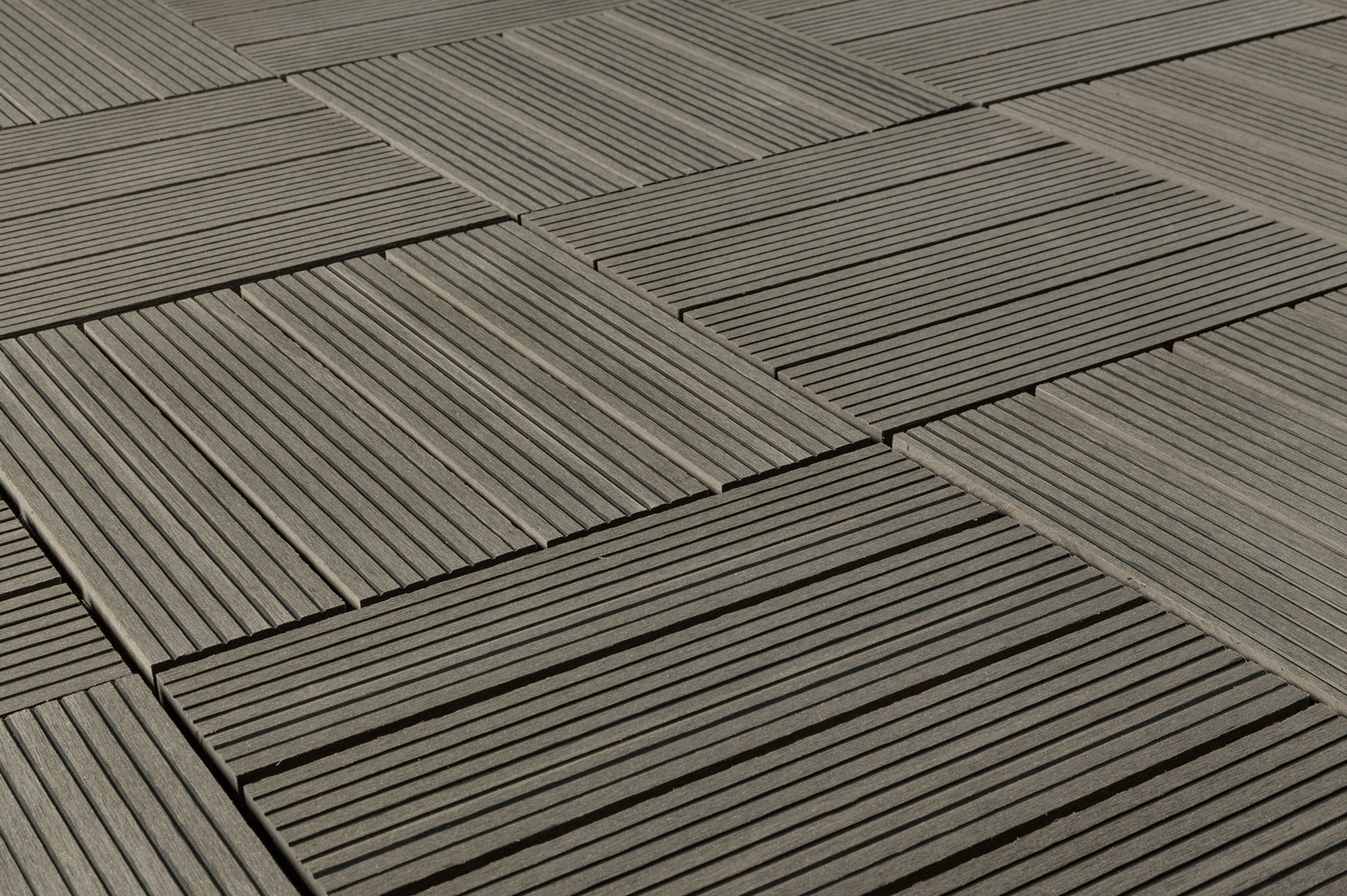 Kontiki composite interlocking deck tiles classic 25 year gray 12 x12 x15 16 - How to install interlocking deck tiles ...